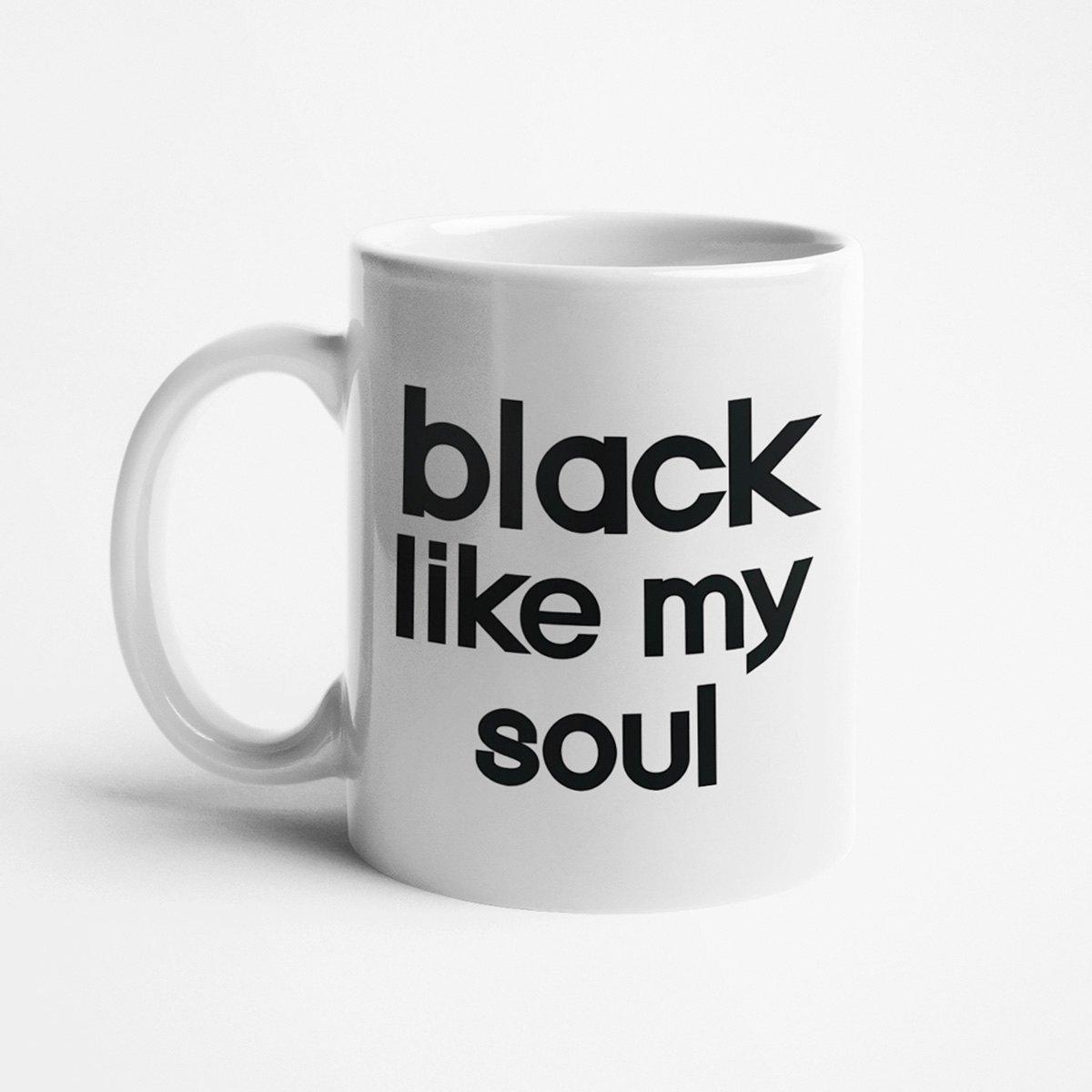 black like my soul kahvikuppi