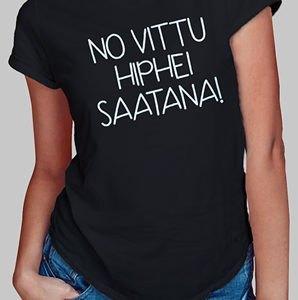 no vittu hiphei saatana paita