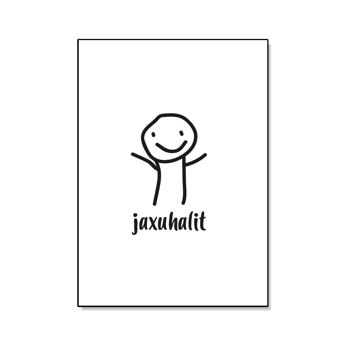 Jaxuhalit, postikortti, Paskakauppa