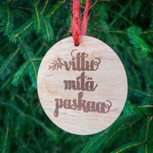 vittu mitä paskaa joulukoriste paskakauppa