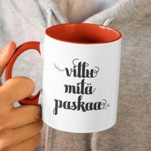 Vittu mitä paskaa jouluisa kuppi