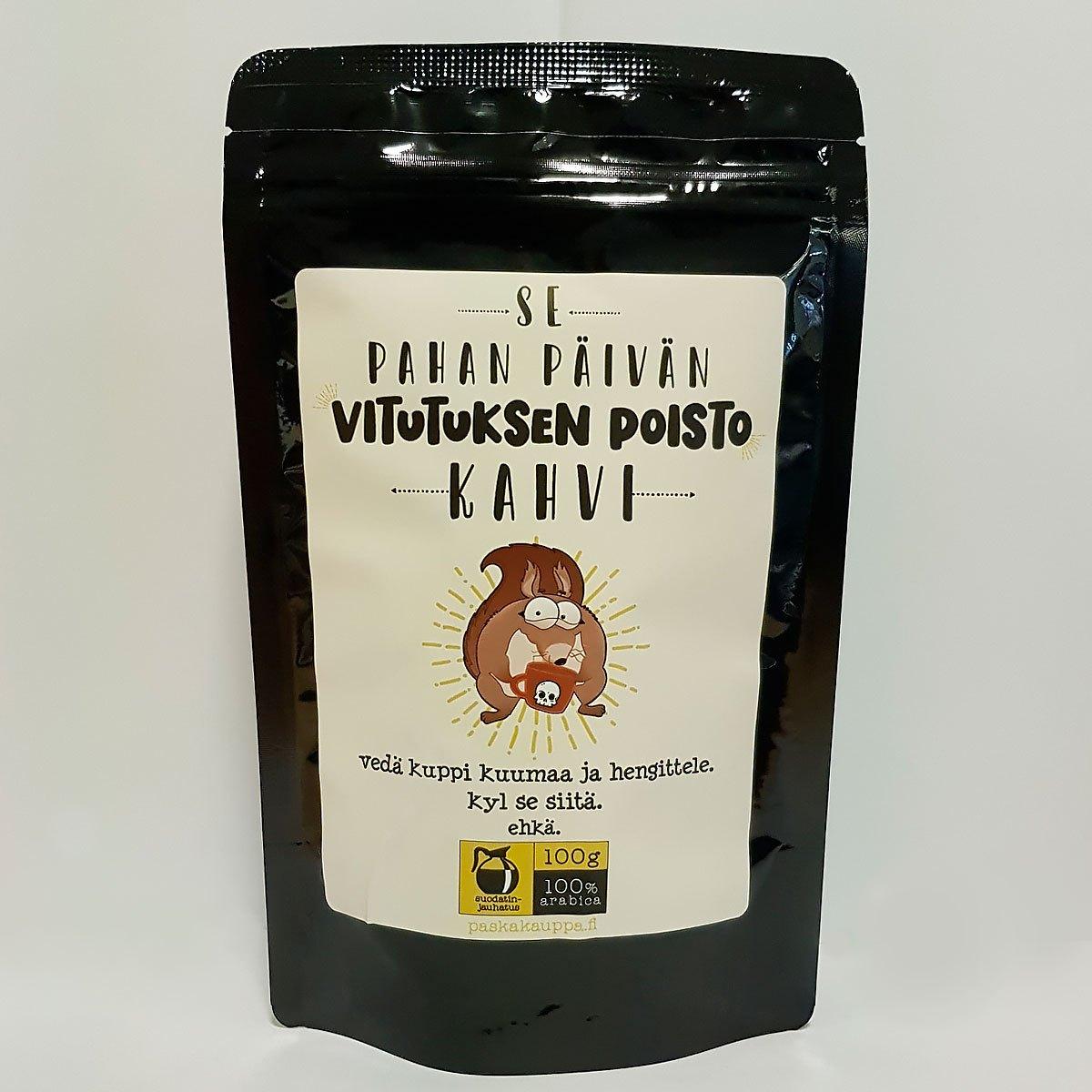 vitutuksen poisto kahvi paskakauppa