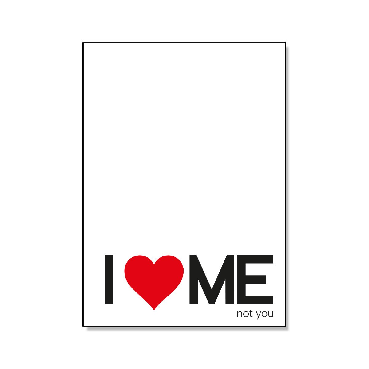 I love me not you postikortti